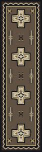 """Saint Cross Taupe"" Southwestern Area Rugs - Choose from 6 Sizes!"