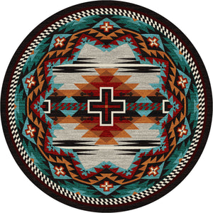 """Rustic Cross - Electric"" Southwestern Area Rugs - Choose from 6 Sizes!"