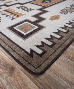 """Old Crow Worn Saddle"" Southwestern Area Rugs - Choose from 6 Sizes!"