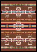 "Load image into Gallery viewer, ""Canyon Cross - Sunset"" Western Area Rugs - Choose from 6 Sizes!"
