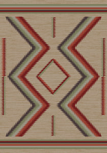 """Hourglass - Fall"" Southwestern Area Rugs - Choose from 6 Sizes!"