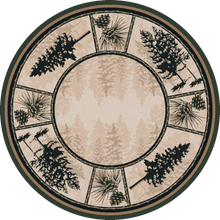 "Load image into Gallery viewer, ""Stoic Pines - Forest"" Western/Lodge Area Rugs - Choose from 6 Sizes!"