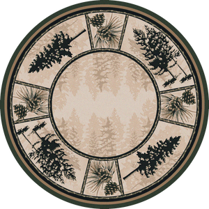 """Stoic Pines - Forest"" Western/Lodge Area Rugs - Choose from 6 Sizes!"