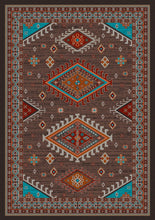"Load image into Gallery viewer, ""Persian - Southwest Brown"" Area Rugs - Choose from 6 Sizes!"
