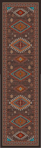 """Persian - Southwest Brown"" Area Rugs - Choose from 6 Sizes!"