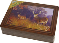 Deer Scene Puzzle with Tin Box