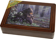 Bear Scene Puzzle with Tin Box