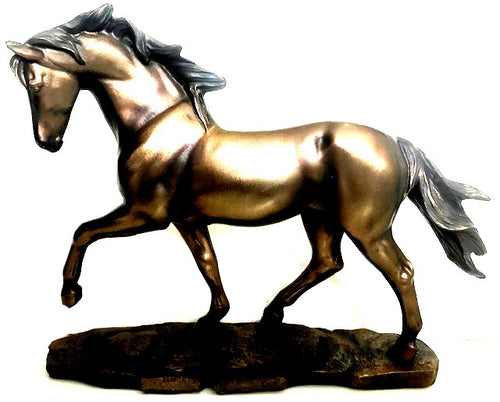 Bronze Color Horse Sculpture