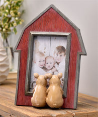 Barn Design Photo Frame with Pigs - 4x6