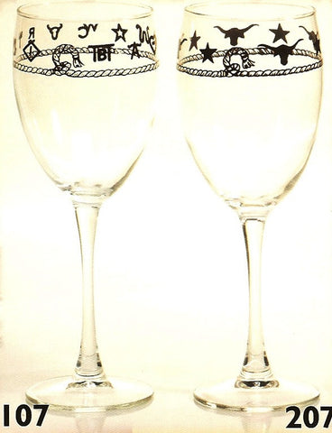 10-1/2 Oz Western Wine Glasses 4-Piece Set