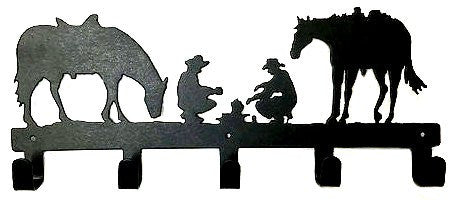 Cast Iron Cowboys & Horses Wall Hooks