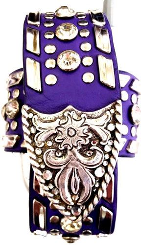 Western Purple & Silver Cell Phone Holder for Flip Phones