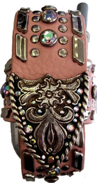Western Peach & Silver Cell Phone Holder for Flip Phones