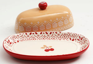 Hollydale Butter Dish with Lid