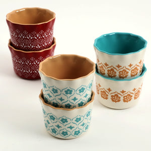 "Cottage Chic 3-1/2"" Ramekins - 6 Pack"