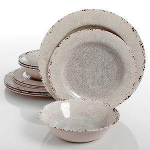 """Mauna"" 12-Piece Melamine Dinnerware Set"