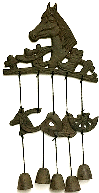 Cast Iron Horse Wind Chime