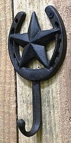Cast Iron Horseshoe & Star Hook