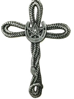 Cast Iron Twisted Rope Cross