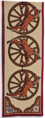 """Western Horse"" Jacquard Table Runner - 13"" x 72"""