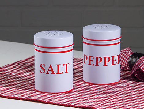 Food Safe Enamel Salt And Pepper - Set Of 2