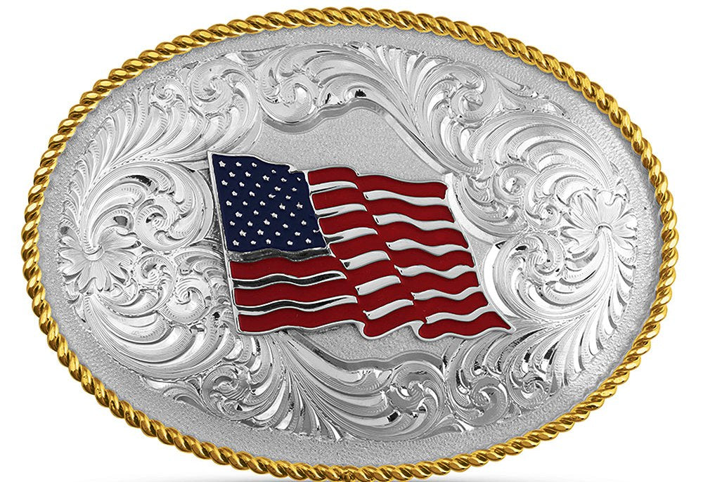 USA Flag Buckle - Made in the USA!