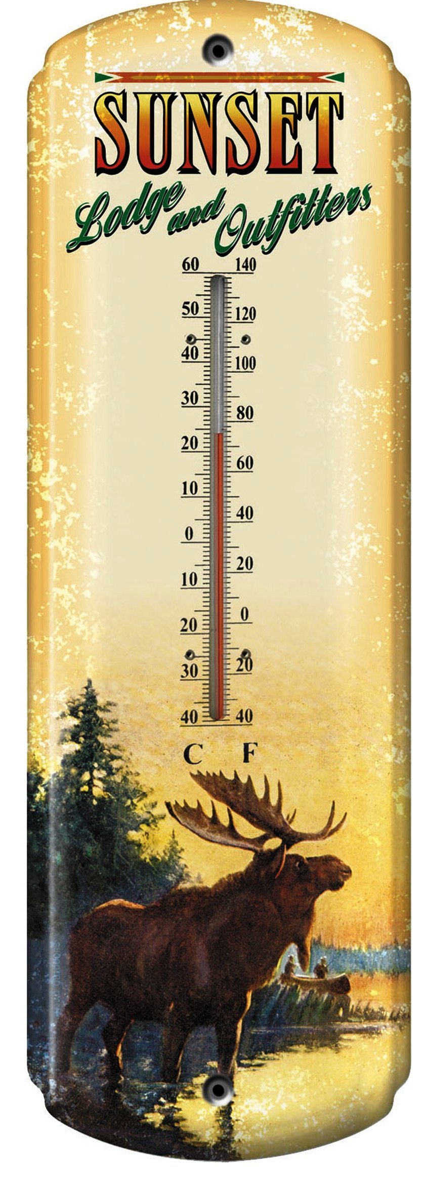 Quot Moose Lodge Quot Western Tin Thermometer 17 Quot 1351 Wild