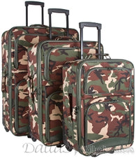 Camo 3-Piece Wheeled Luggage Set