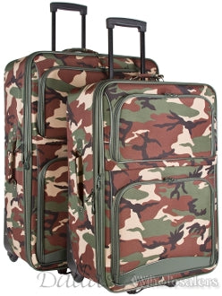 Camo 2-Piece Wheeled Luggage Set
