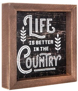Better in the Country Wood Wall Decor