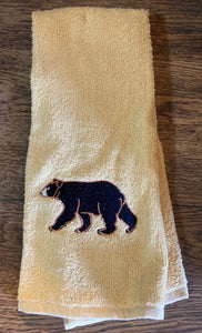 """Bear"" Lodge Terry Towel"