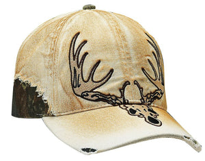 Deer Skull Cap with Velcro Enclosure