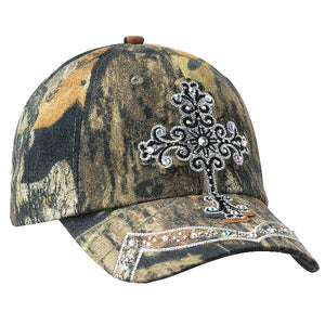 Mossy Oak Crystal Cross Cap with Velcro Enclosure
