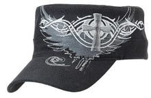 Load image into Gallery viewer, Ladies' Embroidered Cross & Wing Caps