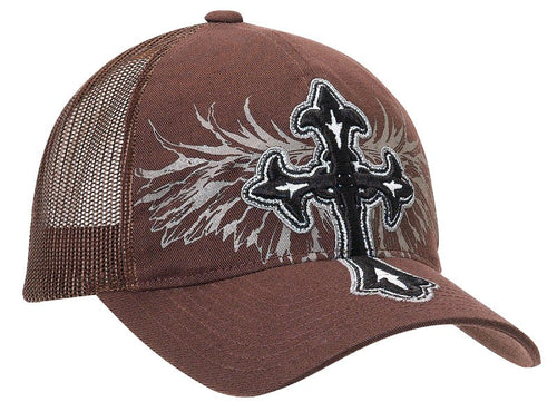 Ladies' Embroidered Cross & Wing Caps - Choose From 2 Colors!