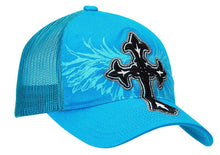 Load image into Gallery viewer, Ladies' Embroidered Cross & Wing Caps - Choose From 2 Colors!