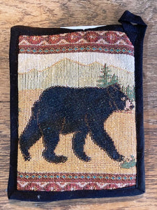 """Bear"" Lodge Jacquard Pot Holder- 7"" x 9"""