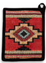 "Load image into Gallery viewer, ""Azteca"" Western Jacquard Pot Holder- 7"" x 9"""
