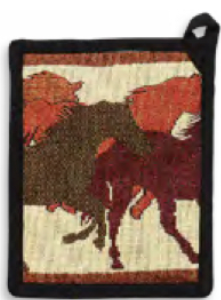 """Running Wild"" Western Pot Holder"