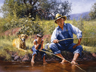 """Fishing with Grandpa"" 300 Pc  Jigsaw Puzzle"