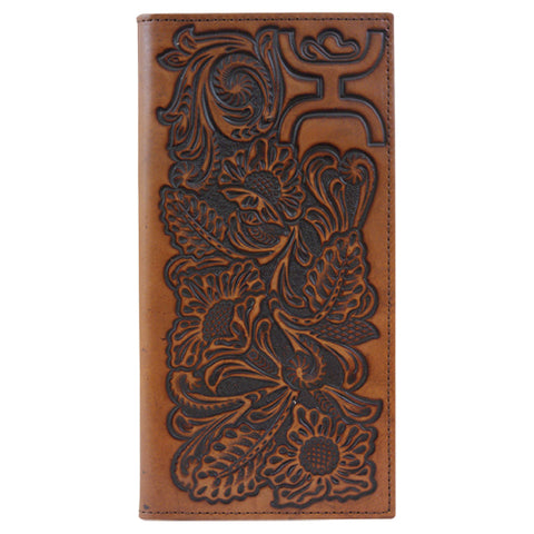 Hooey Signature Floral Tooled Rodeo Wallet
