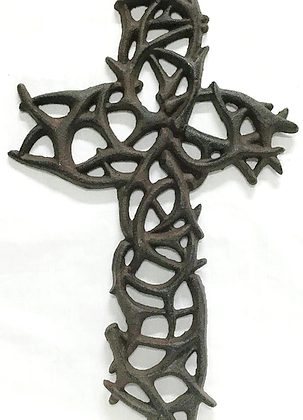 Cast Iron Cross of Thorns