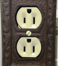 Load image into Gallery viewer, Cast Iron Outlet Cover