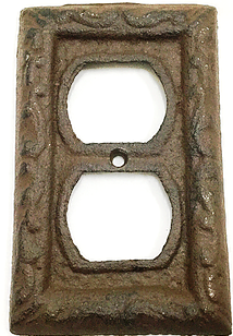Cast Iron Outlet Cover