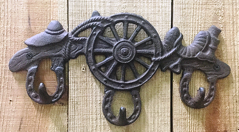 Cast Iron Wagon Wheel Coat Hook