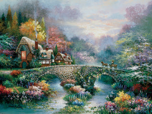 """Peaceful Cottage"" 1000 Pc  Jigsaw Puzzle"