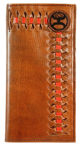 """Hooey Signature""  Rodeo Wallet with Brown & Red Interlacing"
