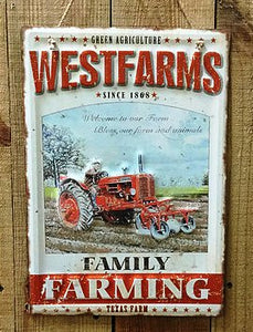 """Westfarms"" Tin Sign"