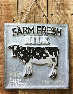 """Farm Fresh Milk""  Tin Sign"