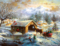 """Over the Covered Bridge"" 1000 Pc  Jigsaw Puzzle"